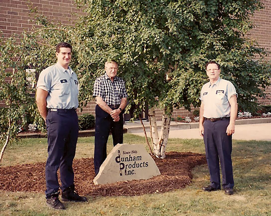 Joseph Klukan II, Joseph Klukan Sr., Ronald Klukan, 1988 - All three generations